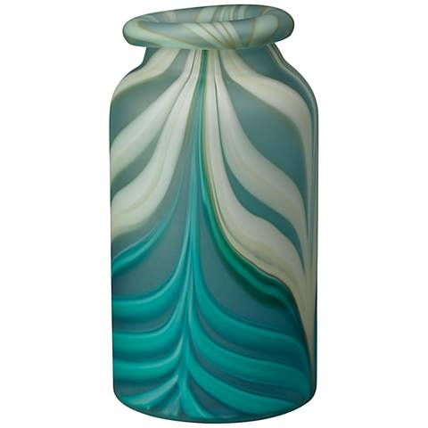 "Jamie Young Esmerelda 16 1/2"" High Aqua Swirl Vase"