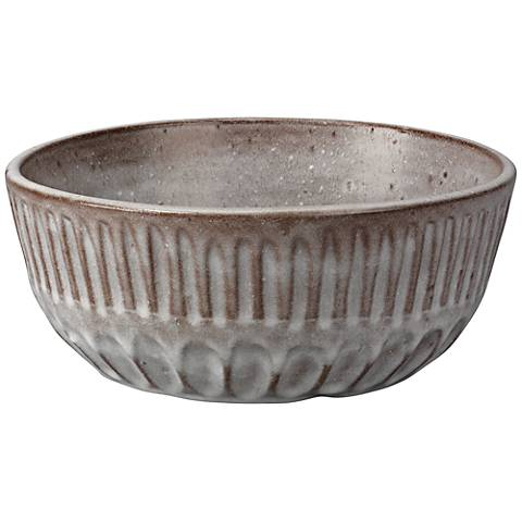 Jamie Young Cradle Ash Gray Ceramic Bowl