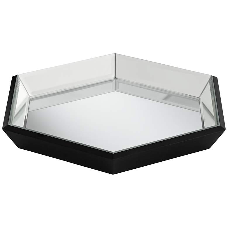 Hansen Black Hexagon Mirrored Tray