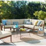 Napa Modular Acacia Wood 5-Piece Outdoor Seating Patio Set