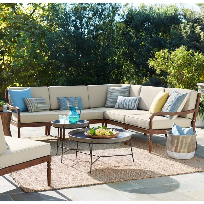 Napa Modular Acacia Wood 5-Piece Outdoor Seating Patio
