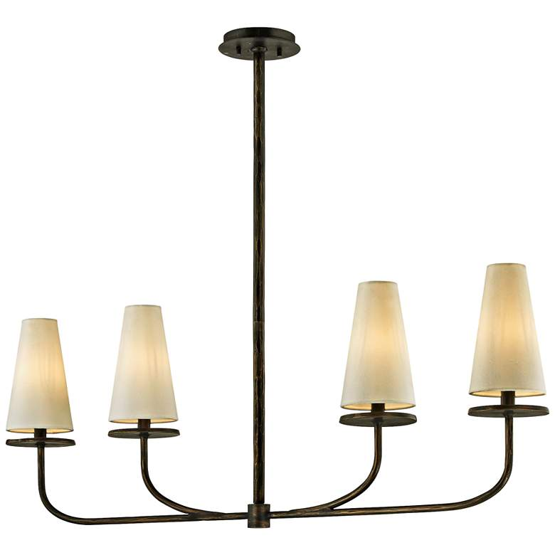 "Marcel 43 1/4"" Wide Pompeii Bronze 4-Light Island Pendant"