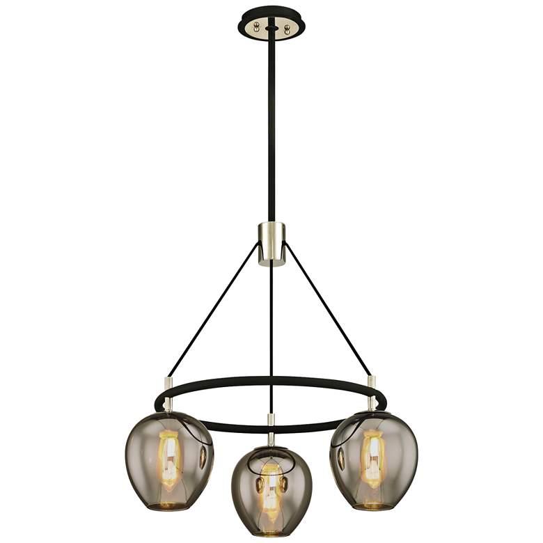 "Iliad 26"" Wide Carbide Black 3-Light Modern Pendant"