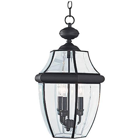 "Lancaster 20 3/4"" High Black 3-Light Outdoor Hanging Light"