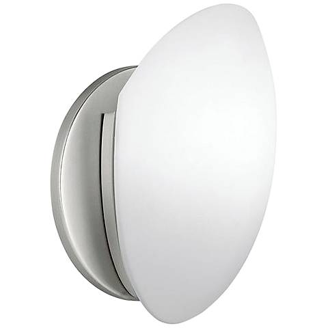 White Frosted Glass ADA Compliant Wall Sconce