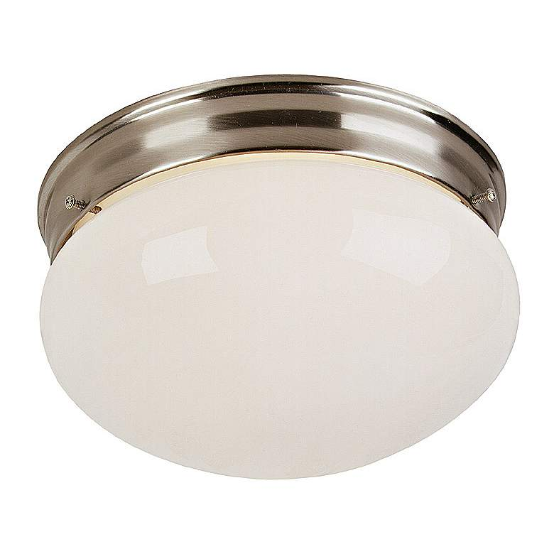 "Brushed Steel 9"" Wide Ceiling Light Fixture"