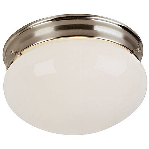 "Brushed Steel 9"" Wide Ceiling Light Fixture"