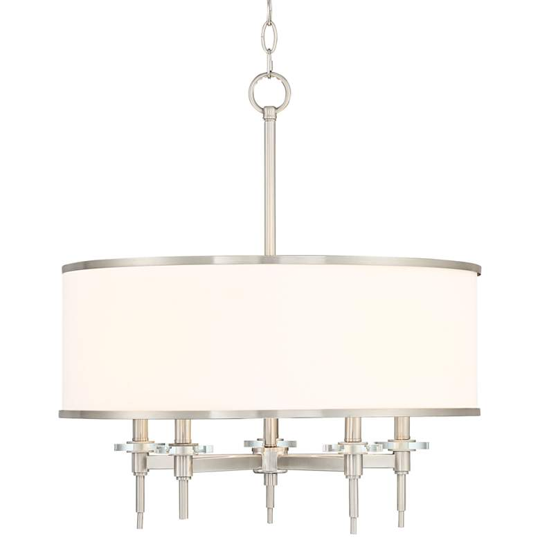 "Greco 23"" Wide Brushed Nickel 5-Light Pendant"