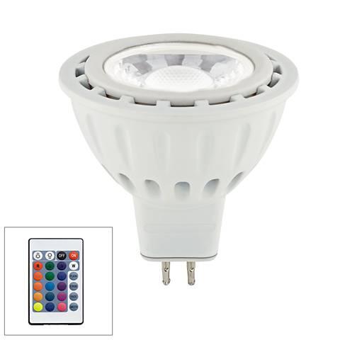 20W Equivalent Tesler 5W LED MR16 RGB W/ Remote
