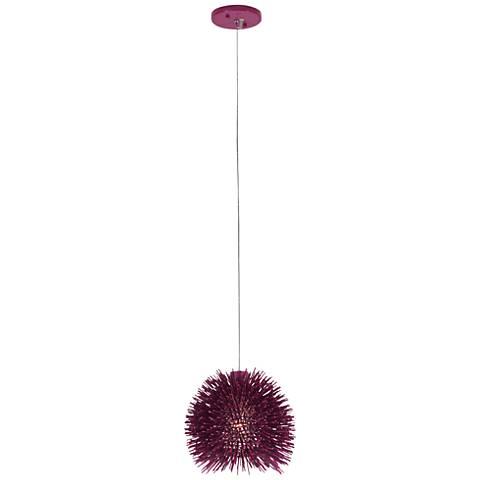 "Varaluz Urchin 9"" Wide Plum Mini Pendant"