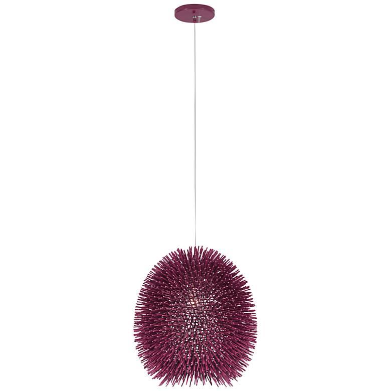 "Varaluz Urchin 13"" Wide Plum Pendant Light"