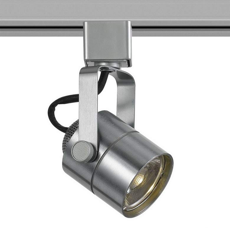 10 Watt LED Brushed Steel Metal Track Head