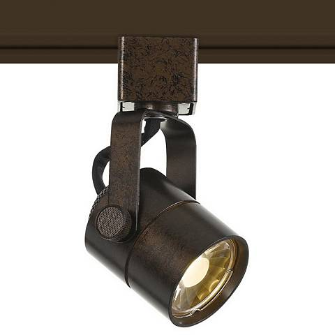 10 Watt LED Rust Finish Metal Track Head For Halo System