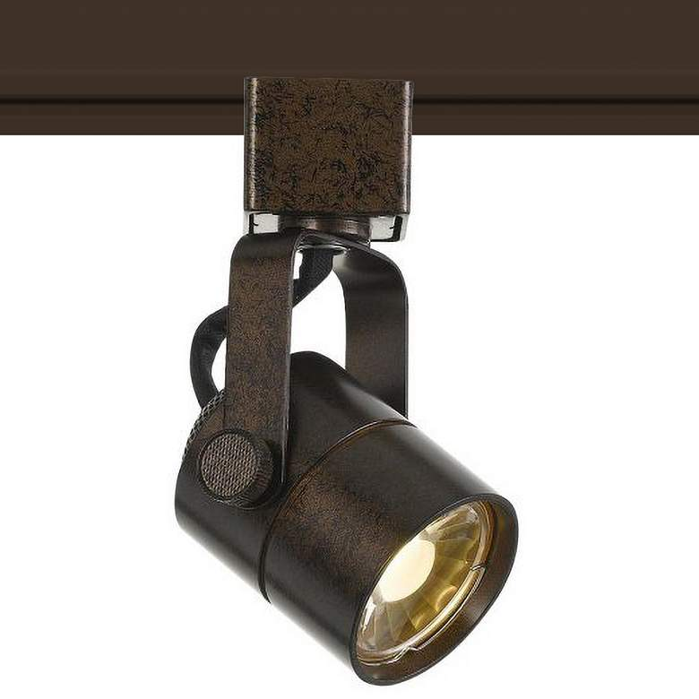 8 Watt LED Rust Finish Metal Track Head
