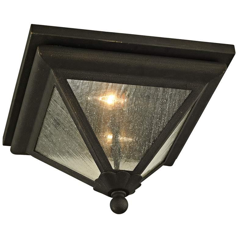 """Geneva 14"""" Wide Vintage Bronze Outdoor Ceiling Light"""