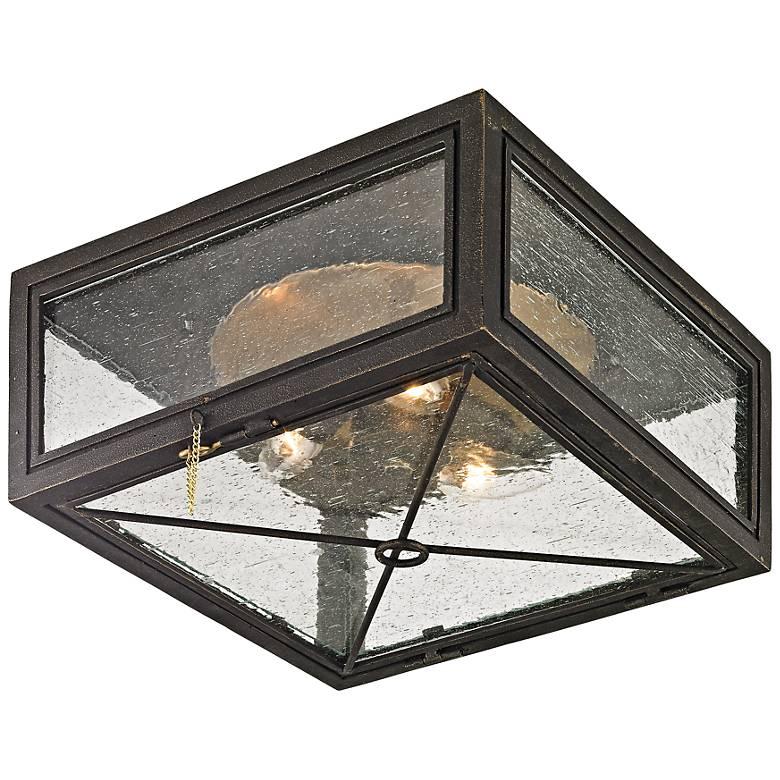 "Randolph 13"" Wide Vintage Bronze Outdoor Ceiling Light"