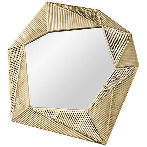 "Pitney Matte Brass 24 1/2"" x 27 1/2"" Wall Mirror"