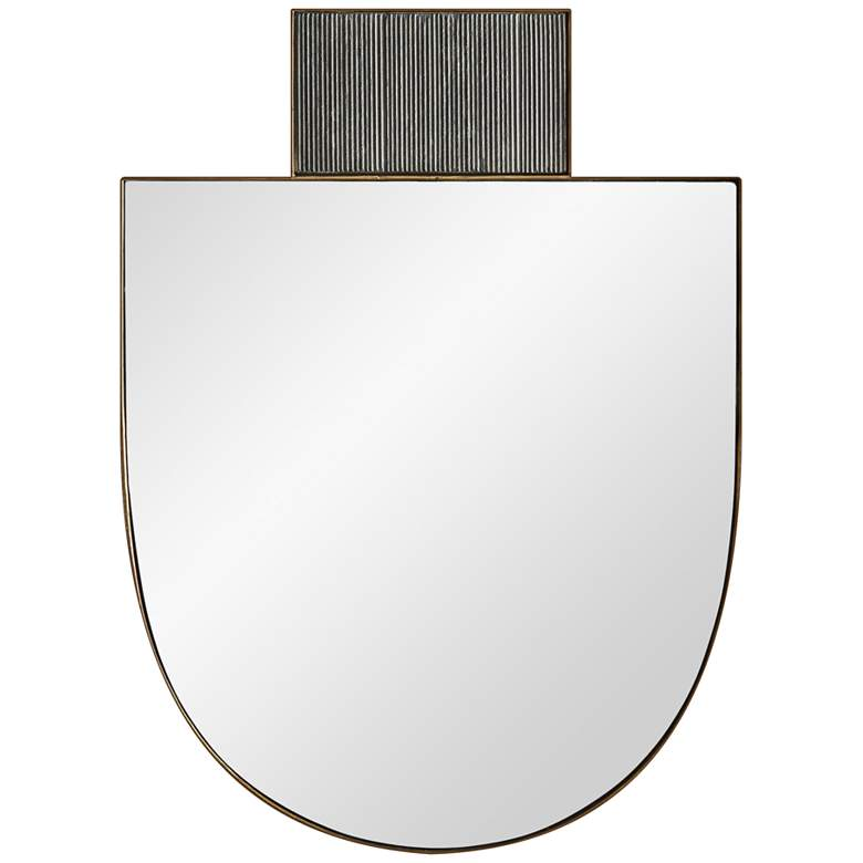 "Arteriors Lianna Gold and Black 22""x30"" Wall Mirror"