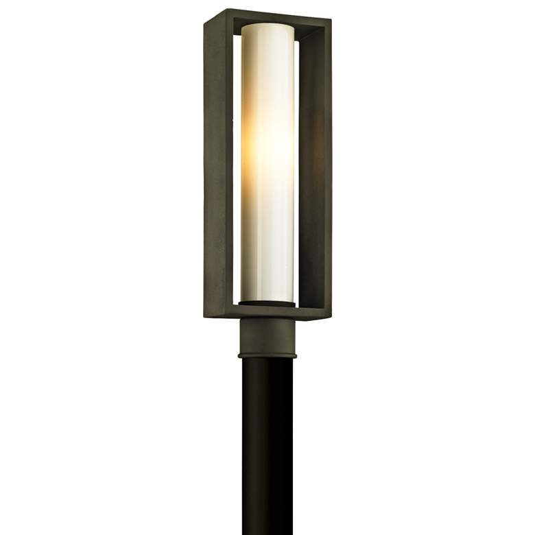 "Mondrian 20 1/4"" High Textured Bronze Outdoor Post Light"