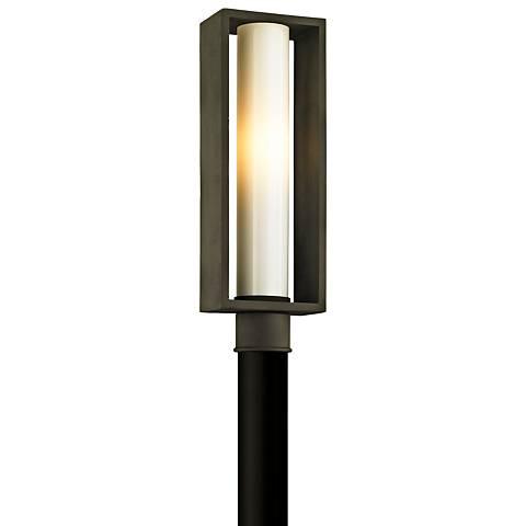 "Mondrian 20 1/4"" High Textured Bronze Outdoor Post Light"