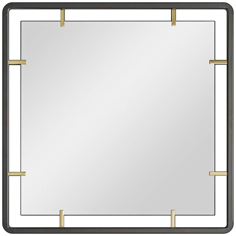 """Arteriors Home Janey Natural Iron 30"""" Square Wall Mirror"""