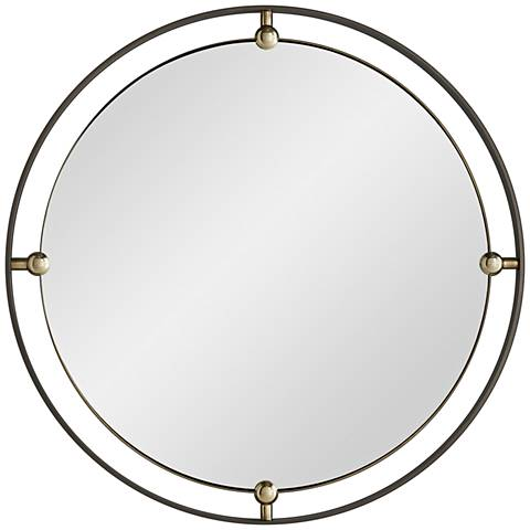 """Arteriors Home Janey Natural Iron 30"""" Round Wall Mirror"""