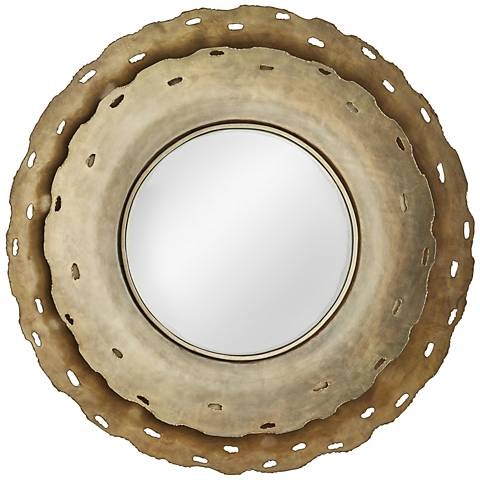 "Arteriors Home Keaton Antique Brass 35"" Round Wall Mirror"