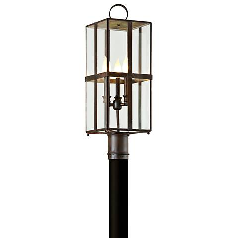 "Rutherford 24 1/4"" High Charred Bronze Outdoor Post Light"