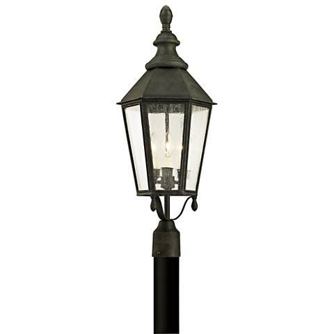 """Savannah 28 3/4"""" High Vintage Iron Outdoor Post Light"""