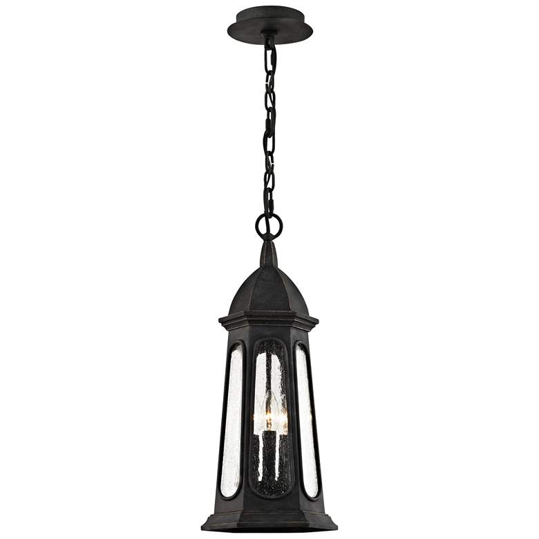 "Astor 24 3/4"" High Vintage Iron Outdoor Hanging Light"