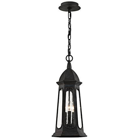 "Astor 24 3/4"" High Vintage Iron Outdoor Hanging Light"