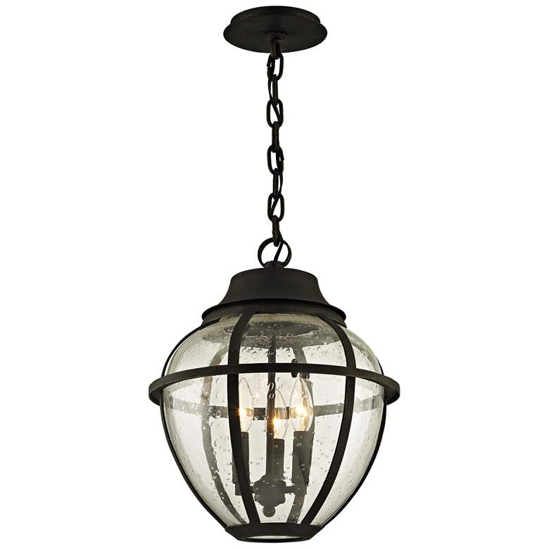 "Bunker Hill 16"" High Vintage Bronze Outdoor Hanging Light"