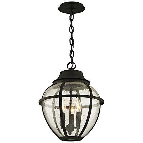 "Bunker Hill 16"" High Vintage Bronze Outdoor Hanging Light"