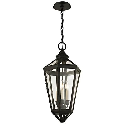 "Calabasas 25 1/4"" High Vintage Bronze Outdoor Hanging Light"