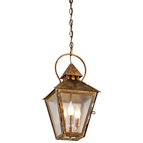 "Allston 20"" High Historic Brass Outdoor Hanging Light"