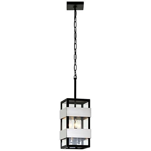 "Dana Point 22 1/2"" High Textured Black Outdoor Hanging Light"