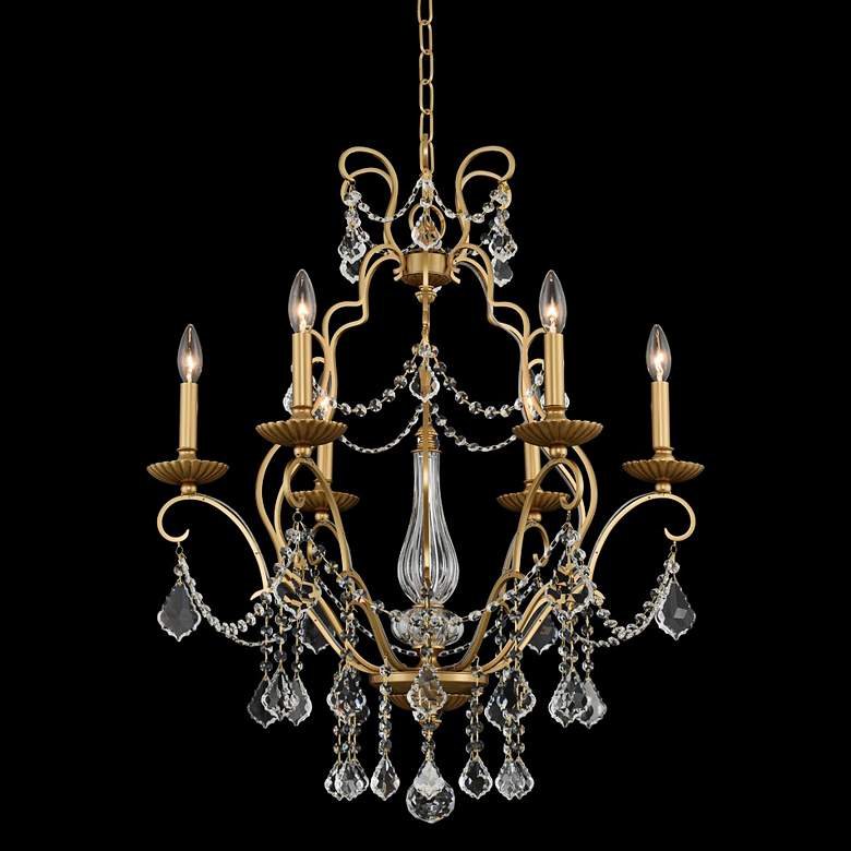 "Allegri Elise 26"" Wide Gold Patina 6-Light Chandelier"
