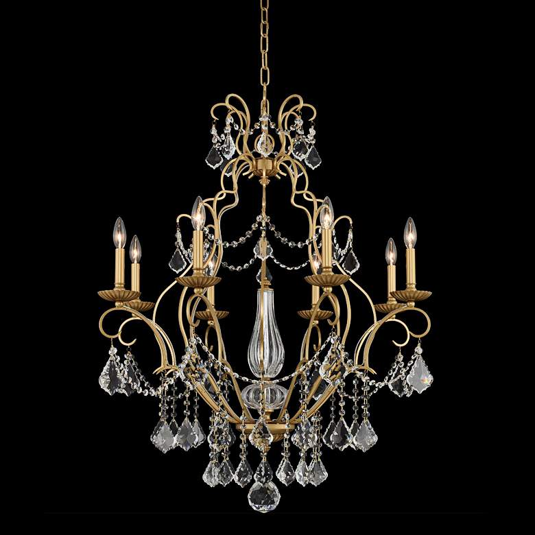 "Allegri Elise 32"" Wide Gold Patina 8-Light Chandelier"