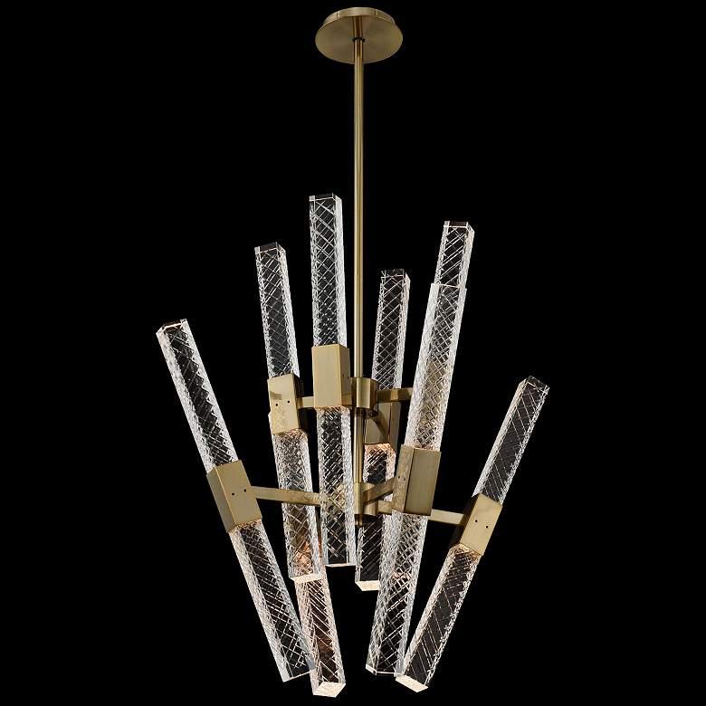 "Allegri Apollo 26""W Champagne Gold 16-Light LED Chandelier"