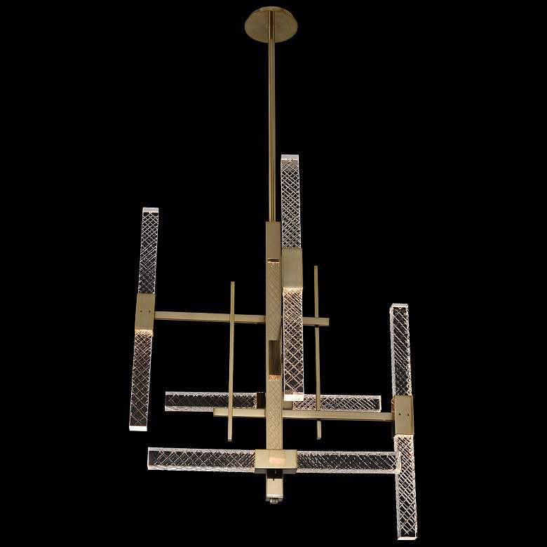 "Allegri Apollo 26""W Champagne Gold 10-Light LED Chandelier"