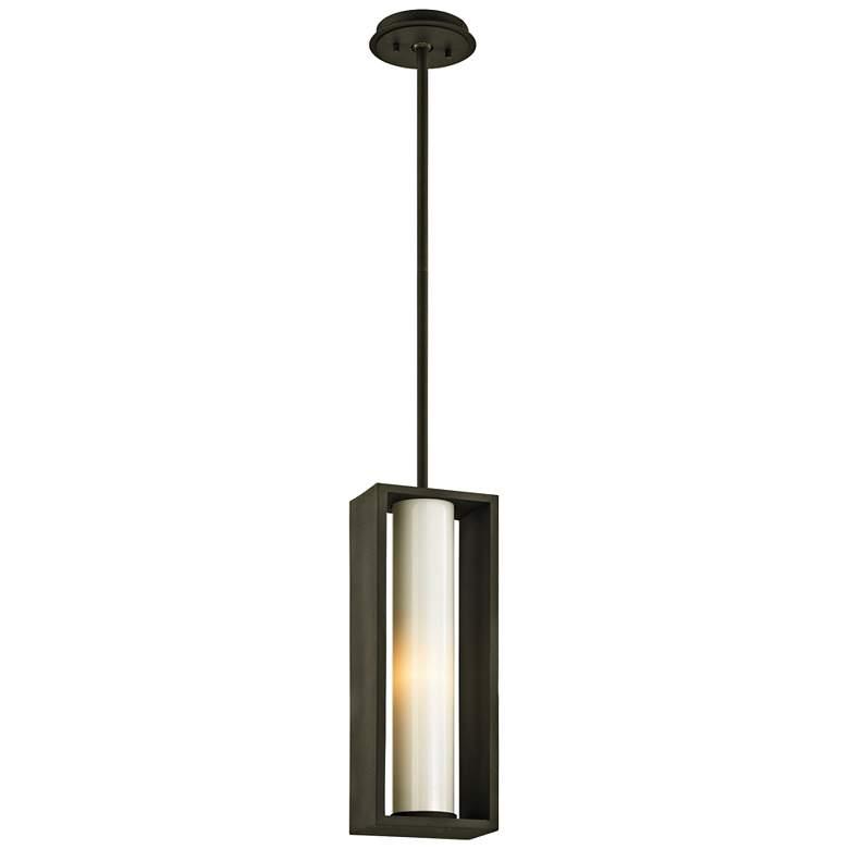 "Mondrian 17 3/4"" High Textured Bronze Outdoor Hanging Light"
