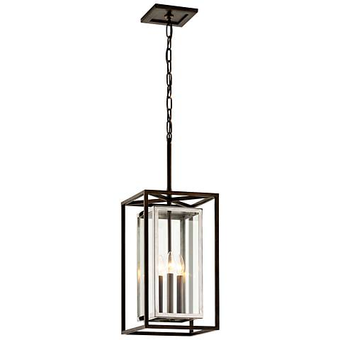 """Morgan 28 1/4""""H Bronze and Polished Outdoor Hanging Light"""
