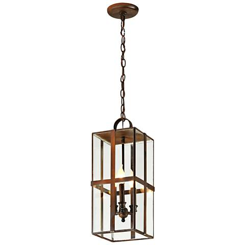 "Rutherford 21"" High Heirloom Brass Outdoor Hanging Light"