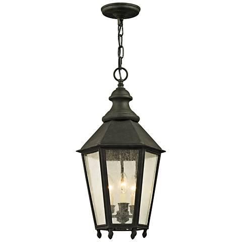 "Savannah 23 3/4"" High Vintage Iron Outdoor Hanging Light"
