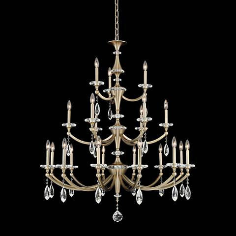 "Floridia 42"" Wide Champagne Gold 21-Light 3-Tier Chandelier"