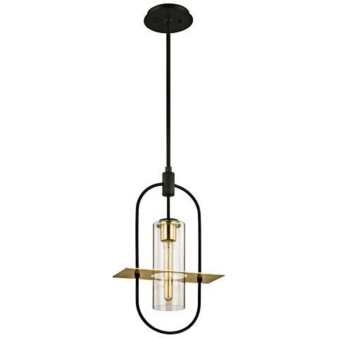 "Smyth 21 3/4"" High Dark Bronze Outdoor Hanging Light"
