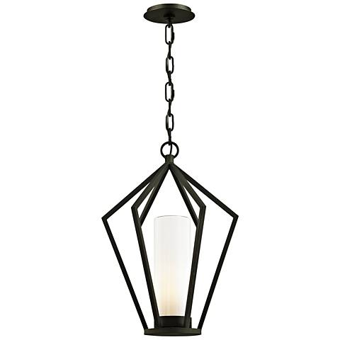 "Whitley Heights 20 1/2"" High Black Outdoor Hanging Light"