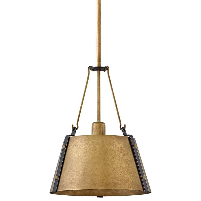 "Hinkley Cartwright 11 1/2"" Wide Rustic Brass Mini Pendant"