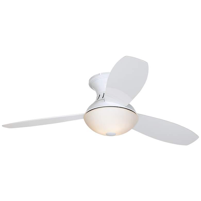 """52"""" Possini Encore LED White Hugger Ceiling Fan"""