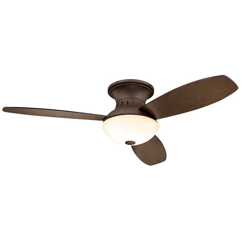"52"" Possini Encore LED Bronze Hugger Ceiling Fan"